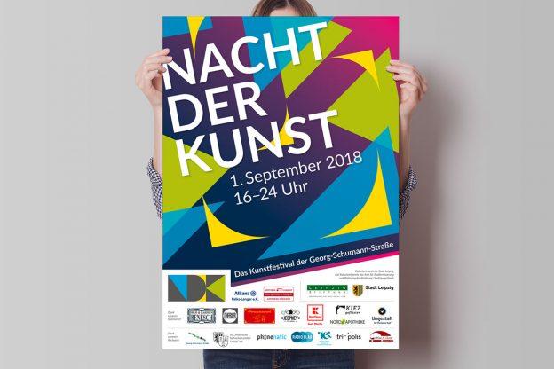 Plakatmotiv zur Nacht der Kunst 2018
